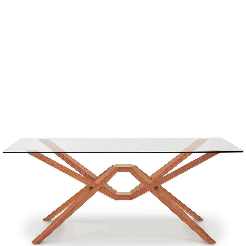 Exeter Glass Top Tables in Cherry - Urban Natural Home Furnishings.  Dining Table, Copeland
