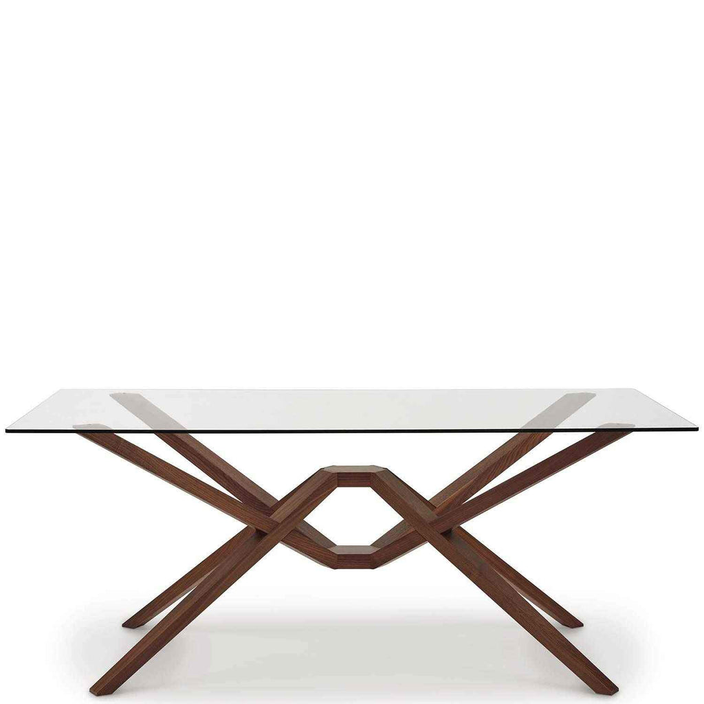 Exeter Glass Top Tables In Walnut - Urban Natural Home Furnishings.  Dining Table, Copeland
