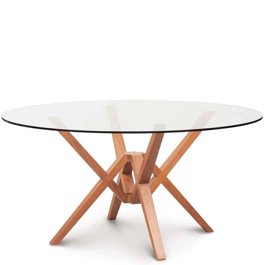 Exeter Round Glass Top Tables in Cherry