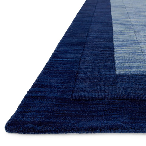 Hamilton Hand Loomed Area Rug in Navy by Loloi