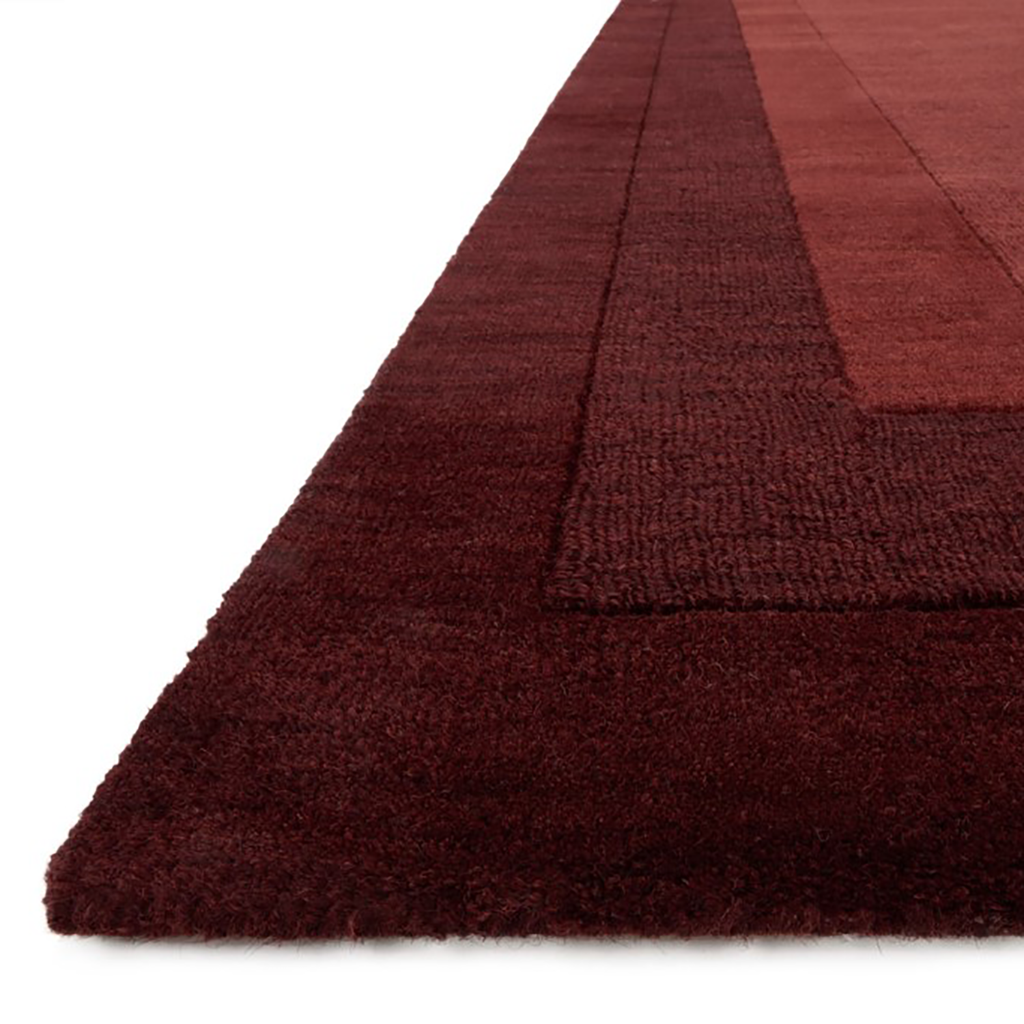 Hamilton Hand Loomed Area Rug in Red