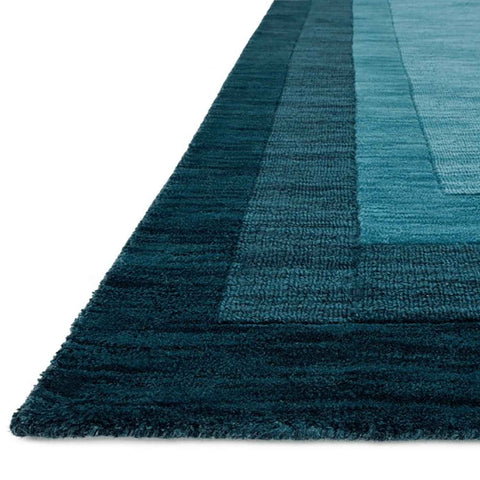 Hamilton Hand Loomed Area Rug in Teal by Loloi