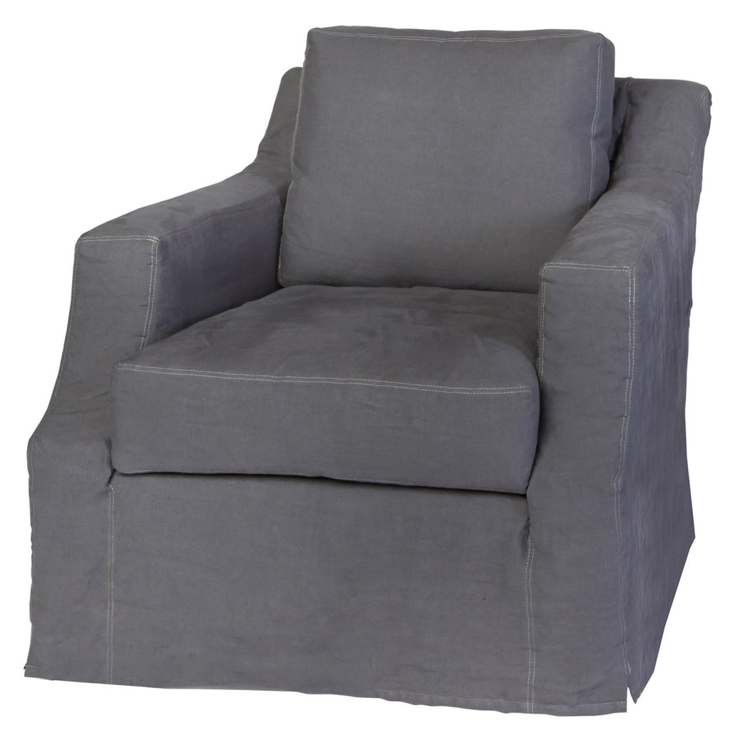 Hayden Deluxe Slipcovered Chair - Urban Natural Home Furnishings.  Living Room Chair, Cisco Brothers