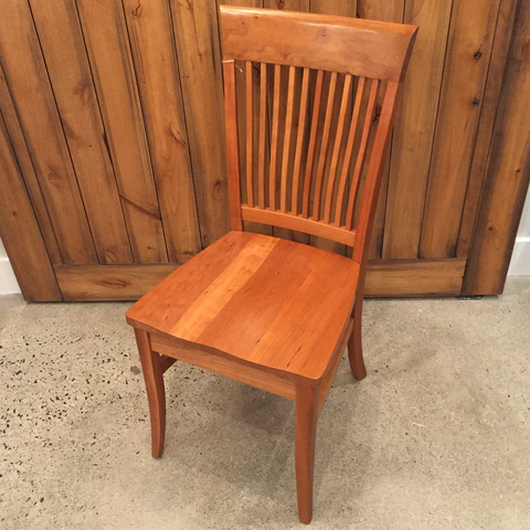 Ava Side Chair in Natural Cherry w wood seat
