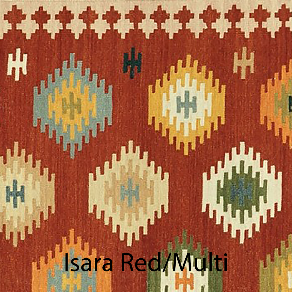 Isara Hand Woven Area Rug in Red / Multi Sample