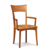 Ingrid Armchair with Wood Seat in Cherry