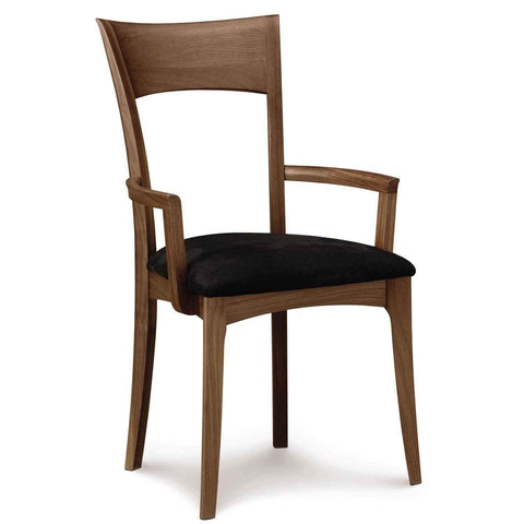 Ingrid Armchair in Walnut with Upholstery - Urban Natural Home Furnishings.  Dining Chair, Copeland