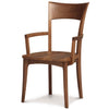 Ingrid Armchair with Wood Seat in Walnut by Copeland