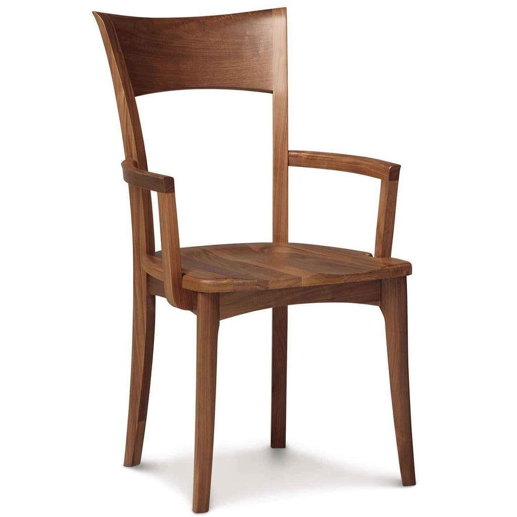 Ingrid Armchair in Walnut with Wood Seat - Urban Natural Home Furnishings.  Dining Chair, Copeland