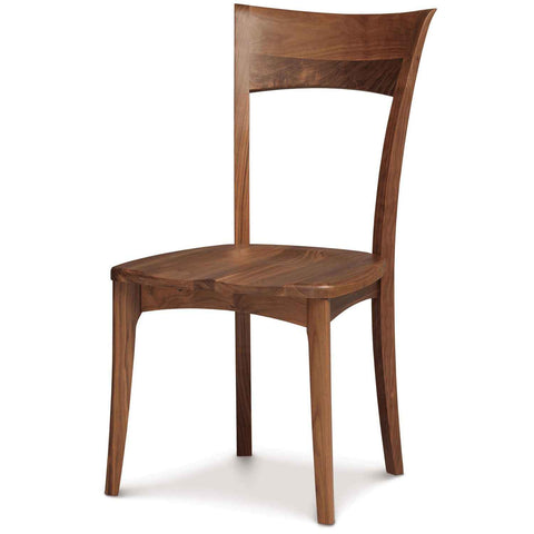 Ingrid Sidechair with Wood Seat in Walnut by Copeland