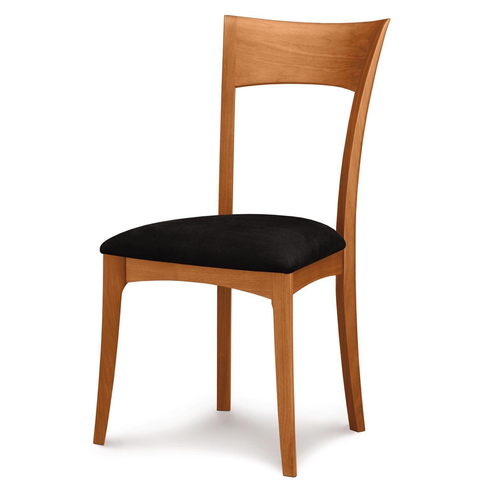 Ingrid Sidechair with Upholstery in Cherry