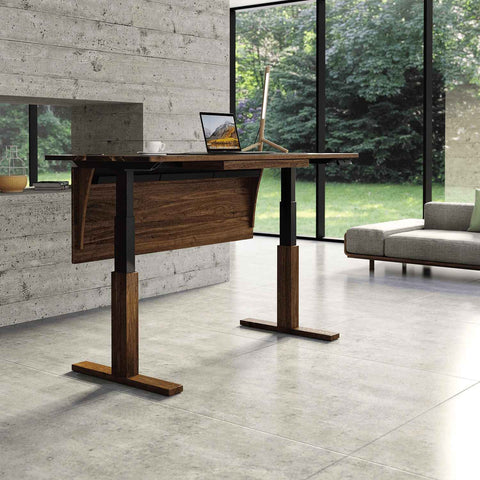 Invigo Sit-Stand Desk In Walnut