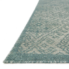 Java Hand Knotted Area Rug in Aqua