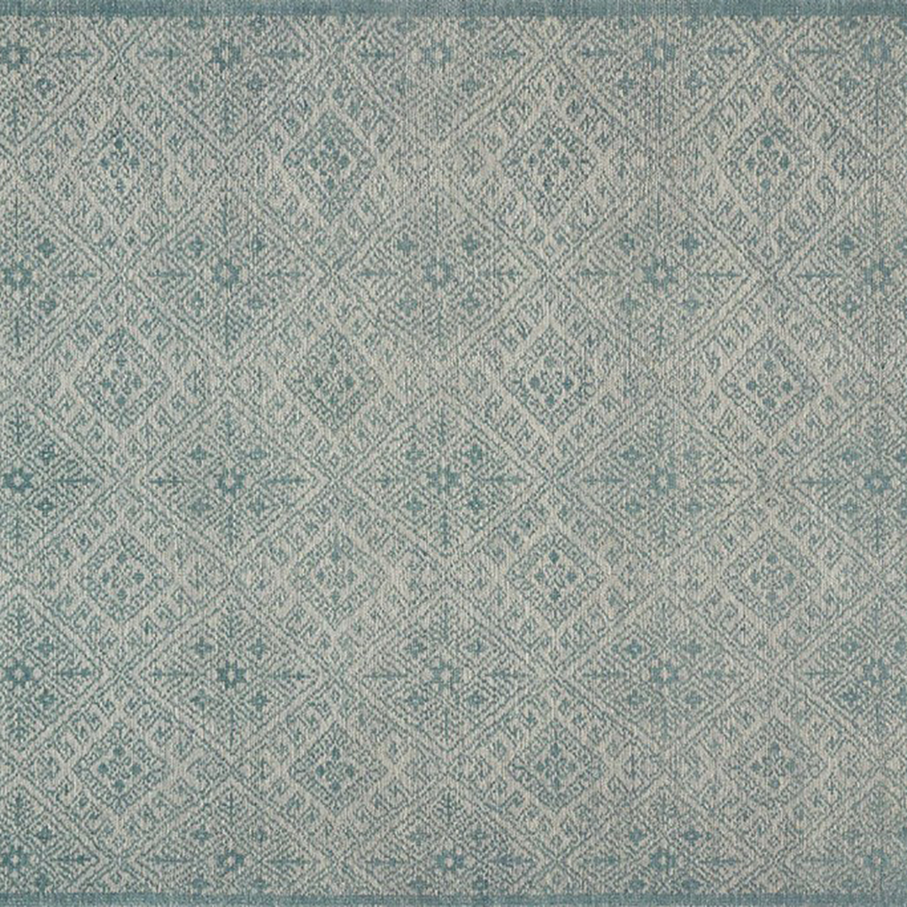 Java Hand Knotted Area Rug in Aqua by Loloi