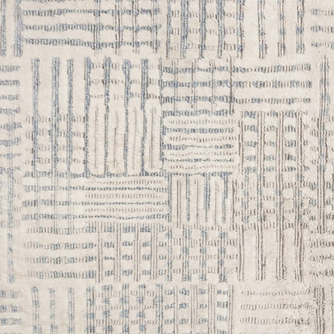 Khalid Hand Knotted Area Rug in Ivory / Sky Sample