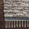 Khalid Hand Knotted Area Rug in Pewter / Ink