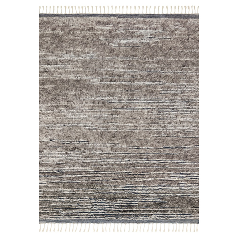 Khalid Hand Knotted Area Rug in Pewter / Ink by Loloi