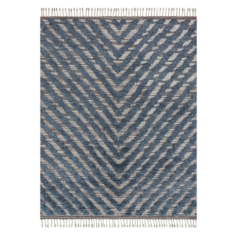 Khalid Hand Knotted Area Rug in Blue / Pewter by Loloi