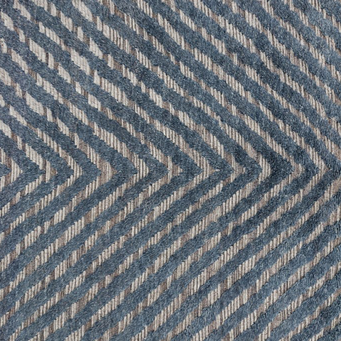 Khalid Hand Knotted Area Rug in Blue / Pewter Sample