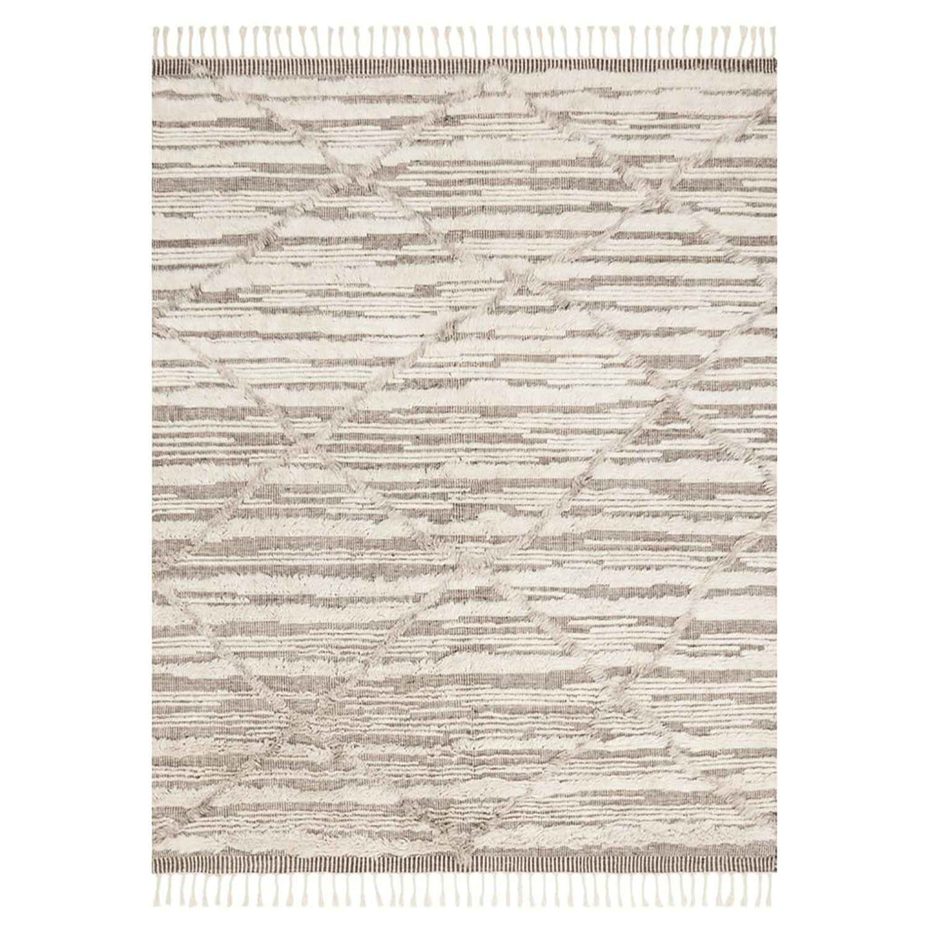 Khalid Hand Knotted Area Rug in Ivory / Taupe by Loloi