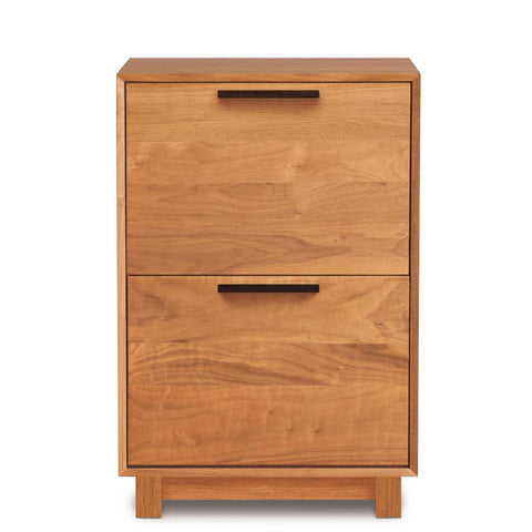 Linear Narrow File Cabinet in Cherry