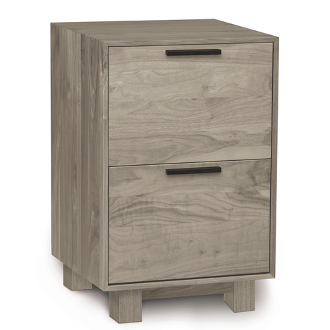 Linear Narrow File Cabinet in Ash
