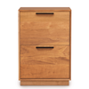 Linear Narrow Rolling File Cabinet in Cherry