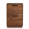 Linear Narrow Rolling File Cabinet in Walnut