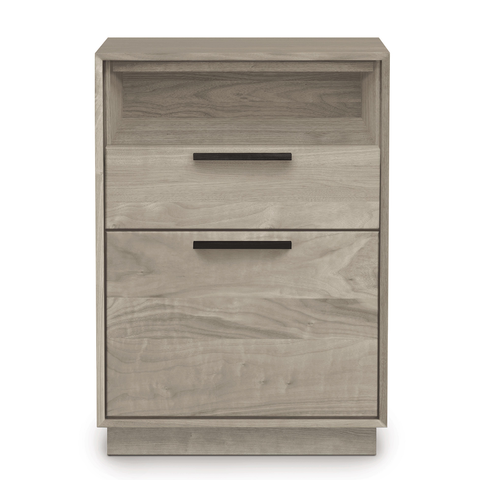 Linear Narrow Rolling File Cabinet with Cubby in Ash