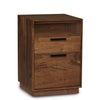 Linear Narrow Rolling File Cabinet with Cubby in Walnut