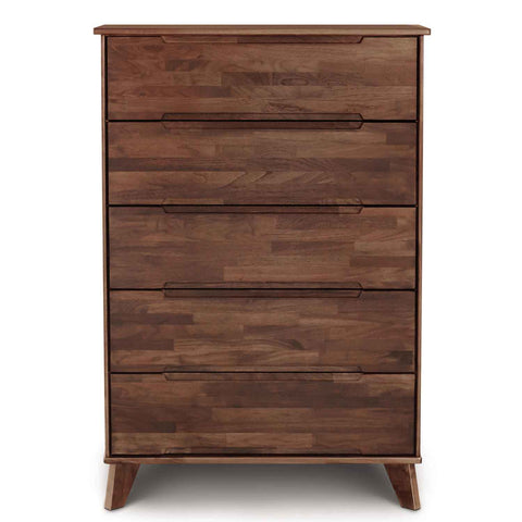 Linn Five Drawer Dresser (Wide) in Walnut