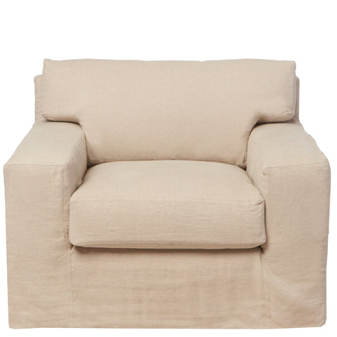 Loft Slipcovered Chair - Urban Natural Home Furnishings.  Living Room Chair, Cisco Brothers