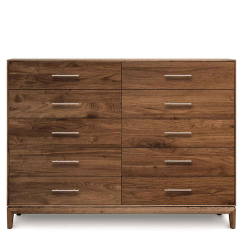 Mansfield Ten Drawer Dresser in Walnut