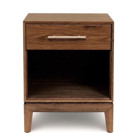 Mansfield One Drawer Nightstand in Walnut