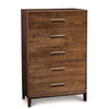 Mansfield Five Drawer Wide Dresser in Walnut