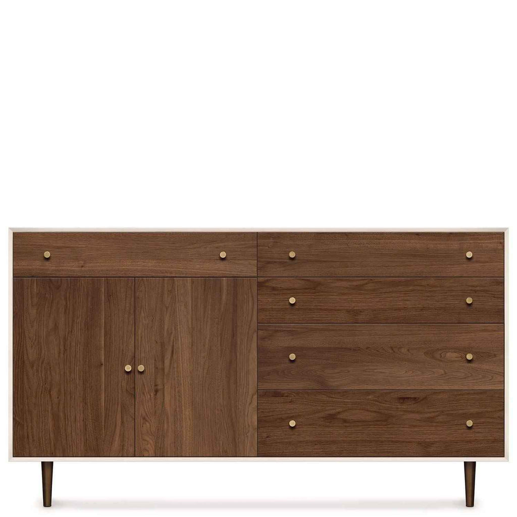 MiMo Storage Cabinet 4 Drawers Right, 1 Drawer over 2 Doors Left - Urban Natural Home Furnishings.  Dressers & Armoires, Copeland
