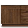 "Moduluxe 35"" Dresser (4 Drawers on Right 1 Drawer Over 2 Doors on Left)"
