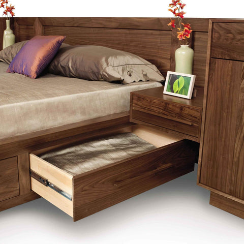 Moduluxe Storage Bed With Leather Upholstered Headboard by Copeland