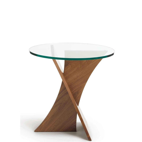 Planes Round End Table Walnut - Urban Natural Home Furnishings.  Nightstands, Copeland