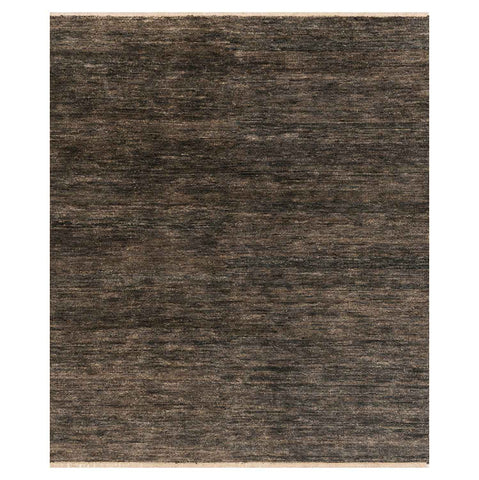 Quinn Hand Knotted Area Rug in Charcoal by Loloi