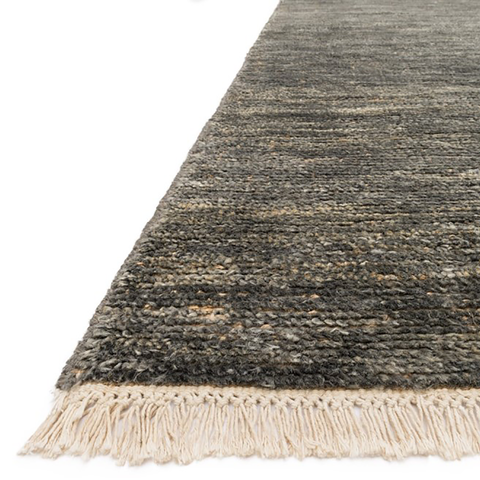Quinn Hand Knotted Area Rug in Grey