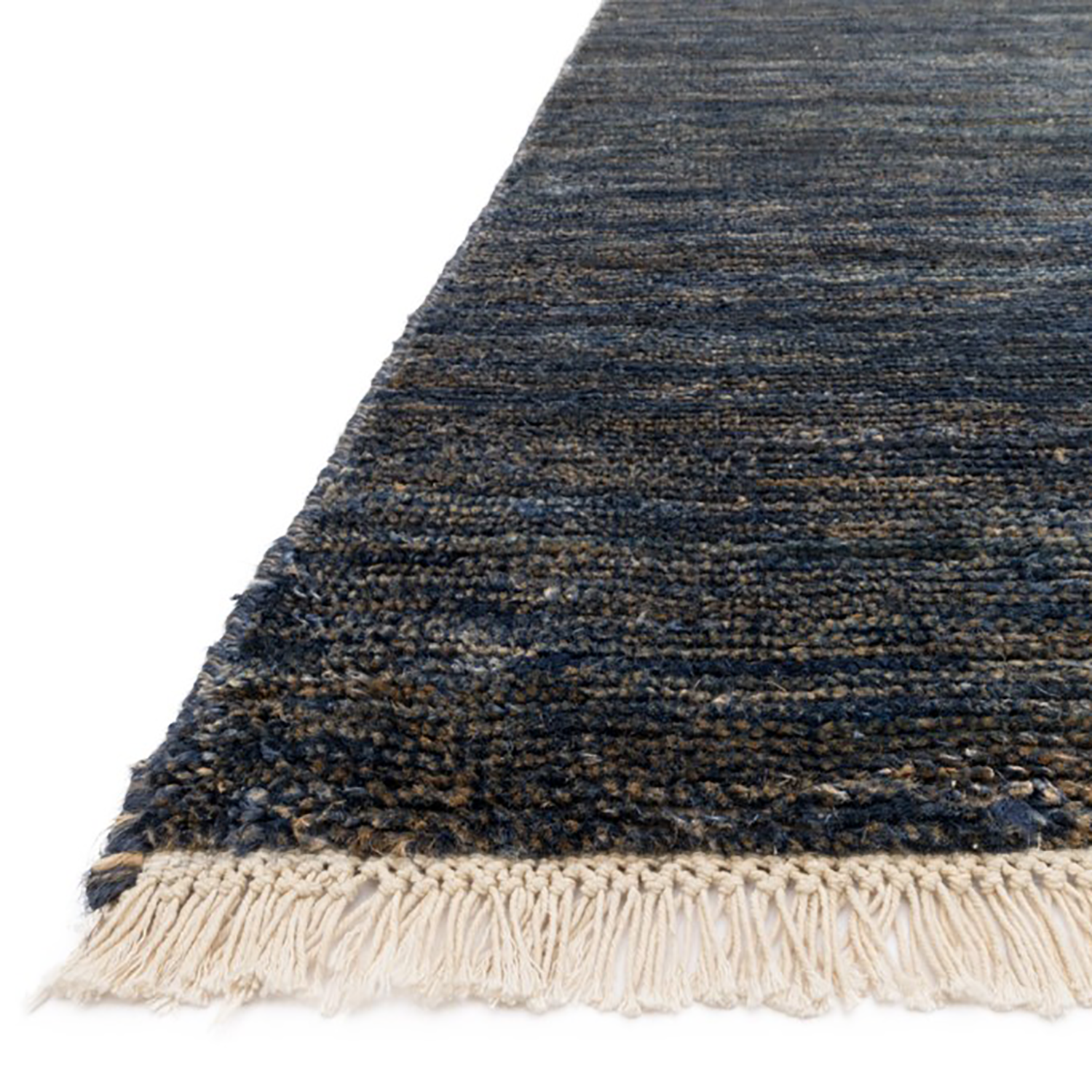 Quinn Hand Knotted Area Rug in Indigo by Loloi