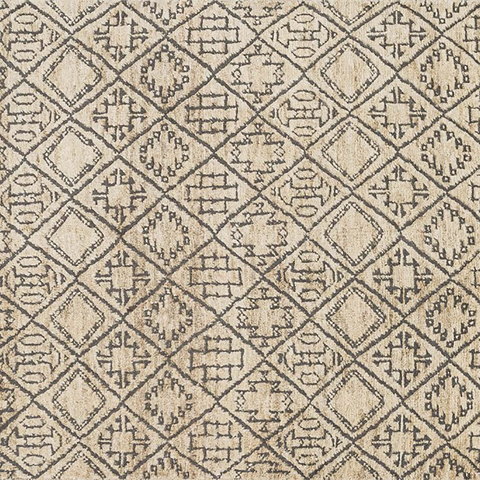 Sahara Hand Knotted Area Rug in Sand Sample