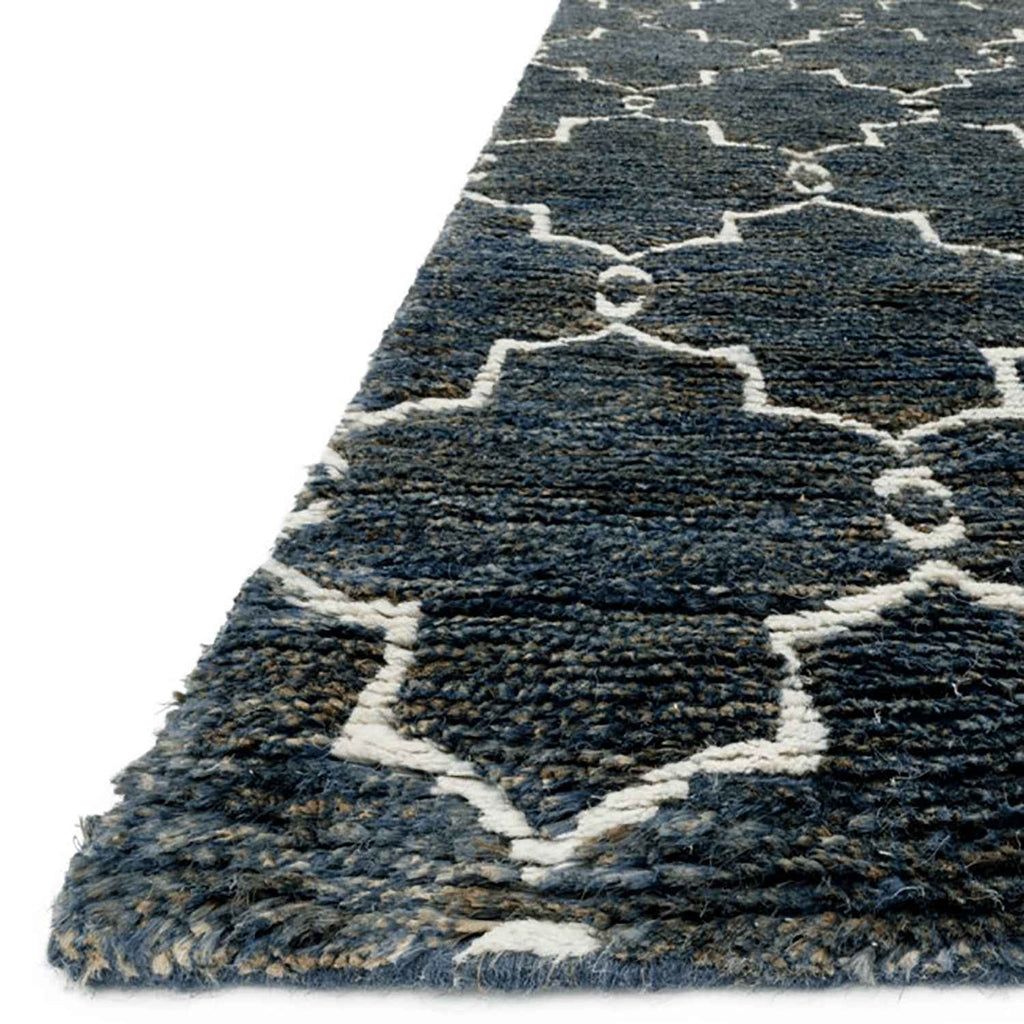 Sahara Hand Knotted Area Rug in Midnight