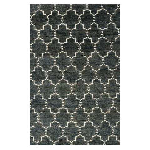 Sahara Hand Knotted Area Rug in Midnight by Loloi