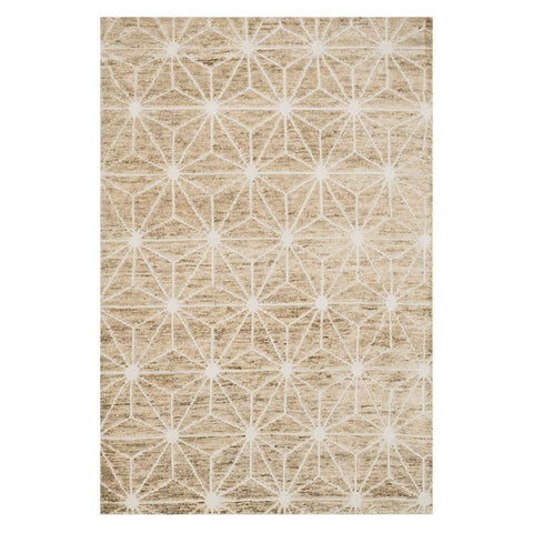 Sahara Hand Knotted Area Rug in Ivory by Loloi