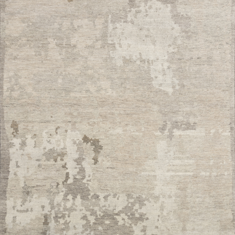 Sumi Hand Knotted Area Rug in Sand Sample