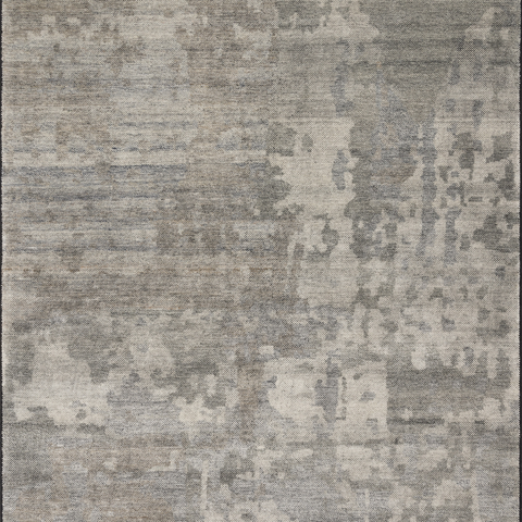 Sumi Hand Knotted Area Rug in Neutral/Black Sample