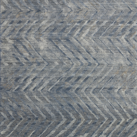 Sumi Hand Knotted Area Rug in Denim/Mist Sample
