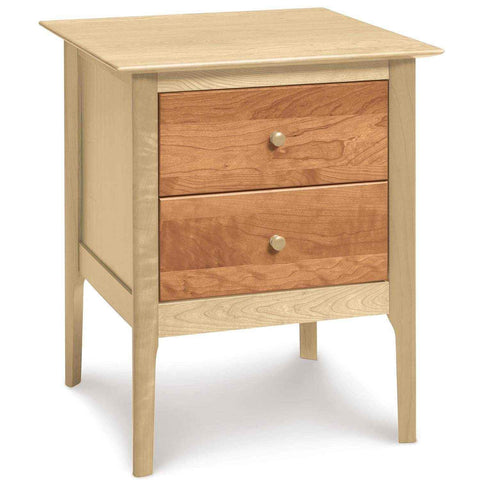 Sarah Two Drawer Tall Nightstand in Maple/Cherry - Urban Natural Home Furnishings.  Nightstands, Copeland
